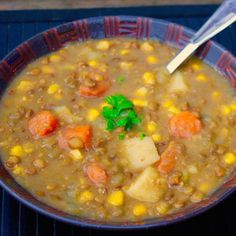 Scrumptious Lentil Soup! The best recipe I've had!