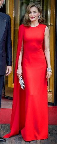Queen Letizia of Spain leaves their hotel to attend the private birthday party of King WillemAlexander in the Royal Stables on April 29 2017 in The Netherlands.