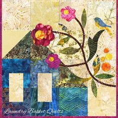 """""""Laundry Basket Quilt of the Day - Garden Trio """"Greenhouse"""" #quiltoftheday #greenhouse #edytasitar #laundrybasketquilts"""""""