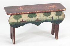 A Small Primitive Bench. : Lot 152-1176