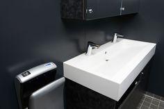 Viking Grace:  Oras Cubista touchless faucets.