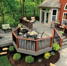 Designing a patio or deck could be somewhat exciting as soon as you understand how much liberty you have got. Decks frequently are built to profit from a perspective. Austin Deck and Patio Builders are here in sequence to make… Continue Reading → Patio Deck Designs, Patio Design, House Design, Patio Ideas, Backyard Ideas, Back Deck Designs, Terrasse Design, Porch Ideas, Timber Deck
