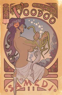 Hoodoo Magick Rootwork:  A vintage Voodoo poster.