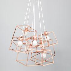 Iacoli & McAllister Frame Cluster Pendant Light