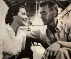 """Movie """"Bhawani Junction""""- Ava Gardner & Stewart Granger shooting a scene inside Lahore Railway Station."""