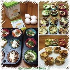 Compartilhando dica de lanche da tarde! Sachê de sopa Herbalife dá um toque especial. Receita: Foram 6 ovos (somente 2 gemas) mistur...