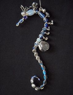 'Blue Dream' Wire Art Seahorse by MaryLClayPainting, via Flickr