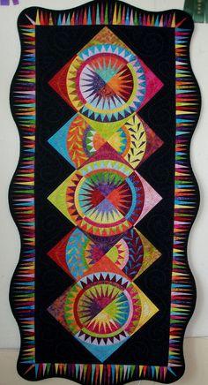 Variation of Deb Karisik's Batik Wheels pattern