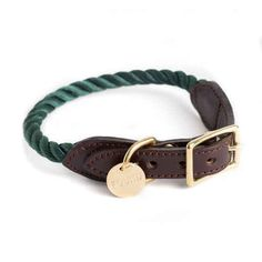 This hunter green rope collar.