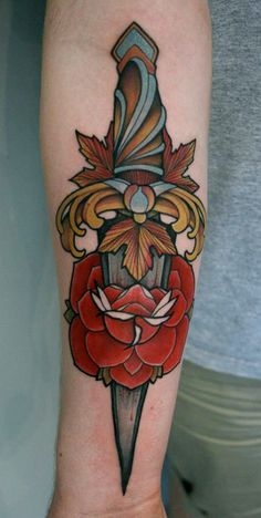 Tattoos by Mitch Allenden.  Not pinning for the tattoo image per say, but the color and execution is amazing.