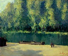 By the Loing (2), Oil On Canvas by Alfred Sisley (1839-1899, France)