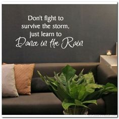 Learn to dance in the Rain  Vinyl Wall Lettering Words by itwaddle, $13.95