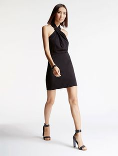 Arch Ring Hardware Crepe Dress