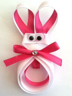 Girls/Baby/Toddler Easter Bunny Hair Clip by MissLittleBowtique, $5.00
