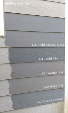 Home Exterior Painting Decisions: A Gray Area (Part V) Home Exterior Painting Decisions: A Gray Area (Part V),Materialien, Stein, Holz & Co. Little House on the Corner: Home Exterior Painting Decisions: A Gray Area. House Paint Exterior, Exterior House Colors, Grey Exterior Houses, Exterior Paint Colors For House With Stone, Exterior House Paint Colors, Red Brick Exteriors, Exterior Gray Paint, Exterior Stairs, Siding Colors