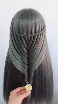 Cute girls hairstyles- Süße Mädchen Frisuren Cute girl hairstyles Today we& going to do a really, really pretty mixed braid. I hope you love it as much as I do. For more tips click # - Cute Girls Hairstyles, Creative Hairstyles, Box Braids Hairstyles, Hairstyles Videos, Amazing Hairstyles, Woman Hairstyles, Trendy Haircuts, Short Hairstyle, Hair Braiding Salon
