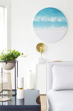 White Beachy Living Room - Kristina Steinmetz