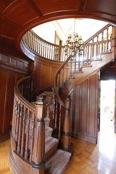 Simple but grand wooden stair
