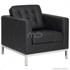 Florence Knoll Replica Arm Chair - Black - Premium Version 26% OFF   $479.00 - Milan Direct
