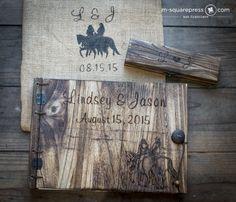 Engagement Photo Engraving Wedding Guest Books – MsquarePress