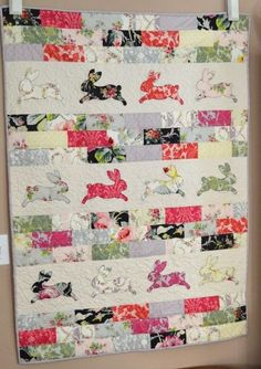 = tutorial = Bunny Bricks Quilt at Jedi Craft Girl, featured at Quilt Inspiration: