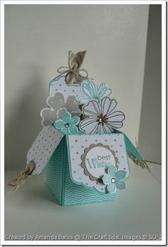 Tag Topper Punch Box Card by Amanda Bates @ The Craft Spa In Yorkshire, UK. Flower Shop. Petite Petals. Fresh Prints DSP.