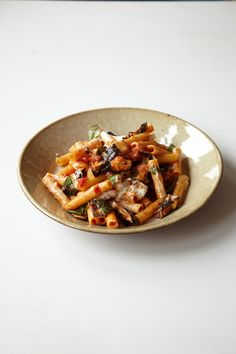 Just wanted to share this delicious recipe from Lidia Bastianich with you - Buon Gusto! Ziti with Roasted Eggplant and Ricotta Cheese