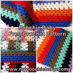 Free Crochet Pattern for Striped Granny Blanket