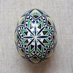 Easter Egg. Ukrainian Pysanka - Zoriane Siayvo . Real Chicken Egg. Made by me!