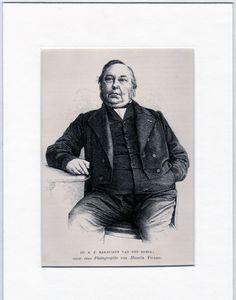 Antique matted print: Reinier Cornelis Bakhuizen van den Brink 1865 houtgravure