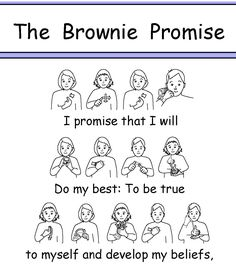 BSL Brownie Promise British Sign Language