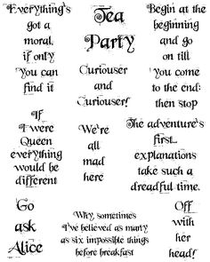 Alice in Wonderland Quotes, Whimsy Font - Technique Junkies