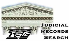 The Software Group's Judicial Records Search Header