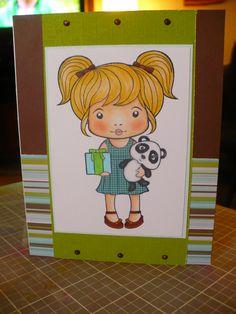 Birthday Marci by La-La Land Crafts. Colored with Copics