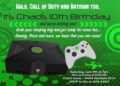 Video Games Birthday Invitation Video Game Birthday Party - Birthday invitation video