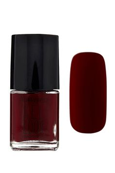 A gel look nail polish in a red wine shade. #beautymark