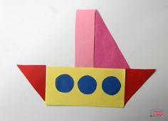 """Des véhicules en papier - puzzle """"tangram"""" - Cabane à idées Puzzles, Triangles, Google Chrome, Origami, Tech Logos, Preschool Crafts, Planes, Transportation, House"""