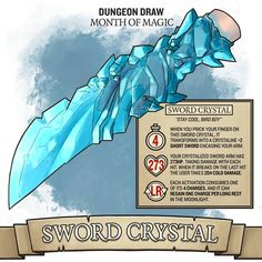 Can break sword with strike for additional cold damage on hit. Dnd Dragons, Dungeons And Dragons Characters, D&d Dungeons And Dragons, Dnd Characters, Fantasy Weapons, Fantasy Rpg, Dnd Stats, Dnd Stories, Dungeon Master's Guide