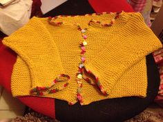 Garter stitch jacket with double crocheted edging made  for my niecickle