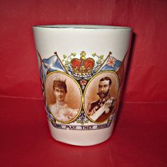 King George V Coronation Beaker 1911 by theroyalbritishfox on Etsy, £10.99