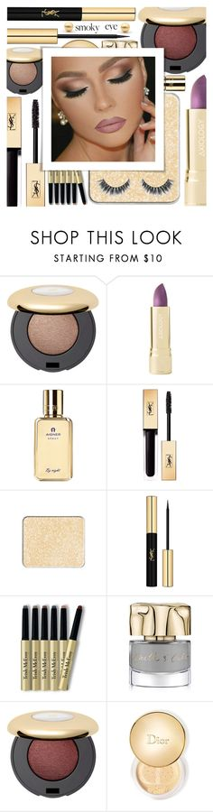 """""""Smoldering: Smoky Eye"""" by shoaleh-nia ❤ liked on Polyvore featuring beauty, Axiology, Yves Saint Laurent, INC International Concepts, Trish McEvoy, Smith & Cult and Christian Dior"""