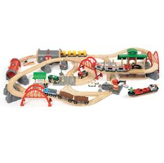 Brio Deluxe Railway Set  by Schylling - $299.99 - This set brings back memories of my childhood.