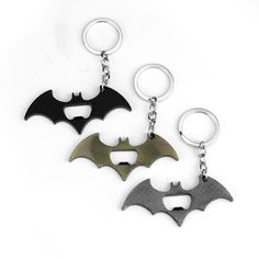 New Arrival Batman Bottle Opener Keychain Alloy Superhero Batman Figure Comics Key chain ring key holder Movie Jewelry Souvenirs