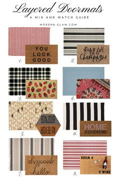 Layered Doormats - a mix and match guide. Front porch styling. Front porch decorating. Doormats and rugs. #Decoratingideas