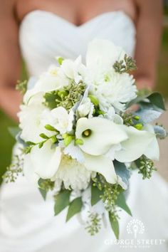 calla lily and hydrangea wedding bouquet - Google Search