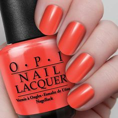 Tasmanian Devil Made Me Do It  NL A44 / Classics A devilishly tempting shade of red-orange.  Read more at http://opi.com/color/nail-lacquer/tasmanian-devil-made-me-do-it#lfSwkSoCx4KlXrJb.99