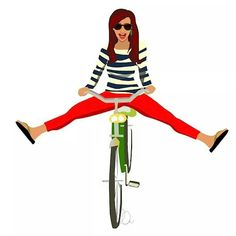 illustration Girl on a Bicycle — Laura Leigh Bean Bicycle Illustration, Illustration Girl, Girl Illustrations, Bicycle Women, Bicycle Girl, Motion Design, Atelier Theme, Illustration Inspiration, Bicycle Print