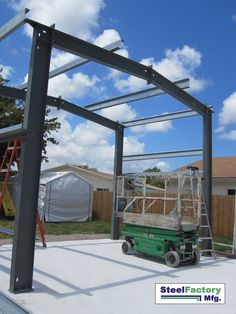 Rigid Frame I-beam Steel Buildings - Steel Buildings by Steel Factory Mfg American made Steel Structures Metal Garages Steel Building Kits