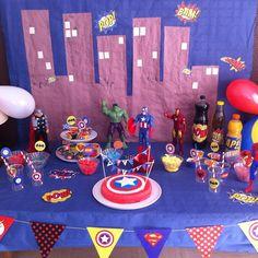 Un anniversaire de Super-héros (6 ans)