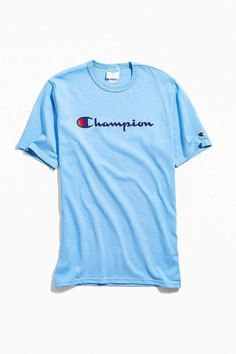 Shop Champion Script Ink Tee at Urban Outfitters today. Black Girl Fashion, New Fashion, Champion Clothing, Script Logo, Cute Swag Outfits, Best Friend Goals, Graphic Tees, Mens Tops, T Shirt